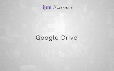 Google Drive: Upravljanje online dokumentov
